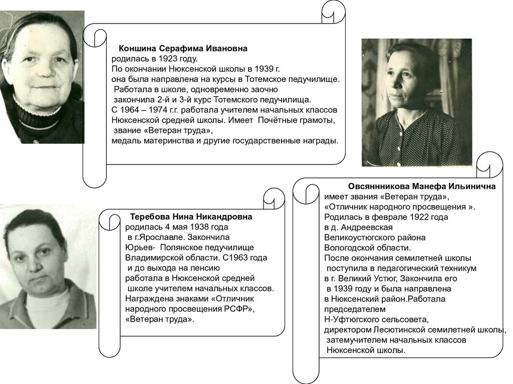 Теребова Нина Никандровна родилась 4 мая 1938 г...