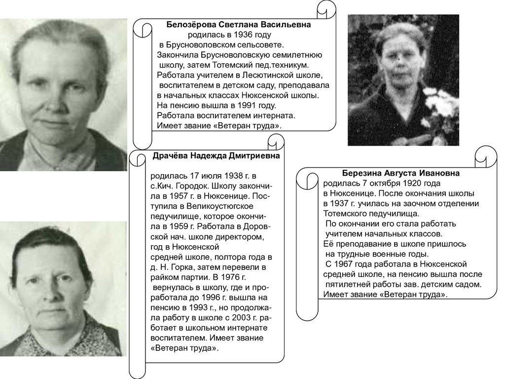 Белозёрова Светлана Васильевна родилась в 1936 ...
