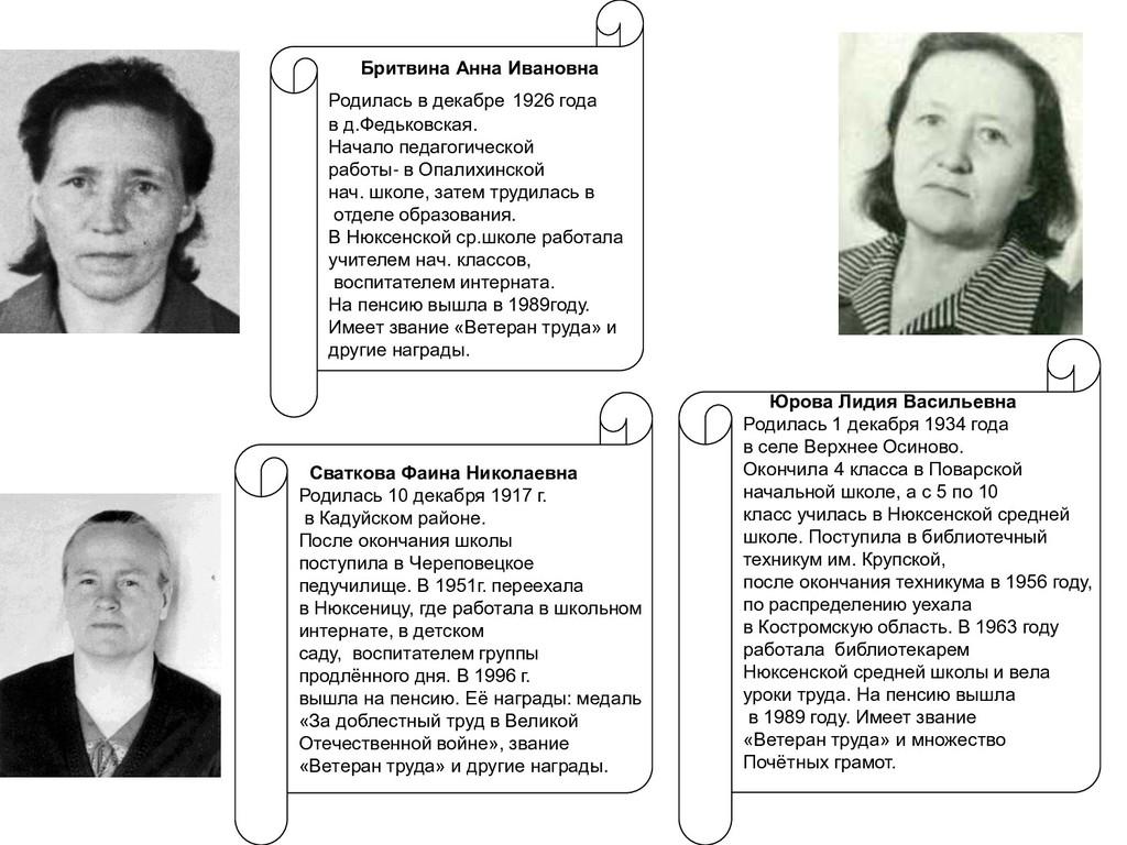 Юрова Лидия Васильевна Родилась 1 декабря 1934 ...