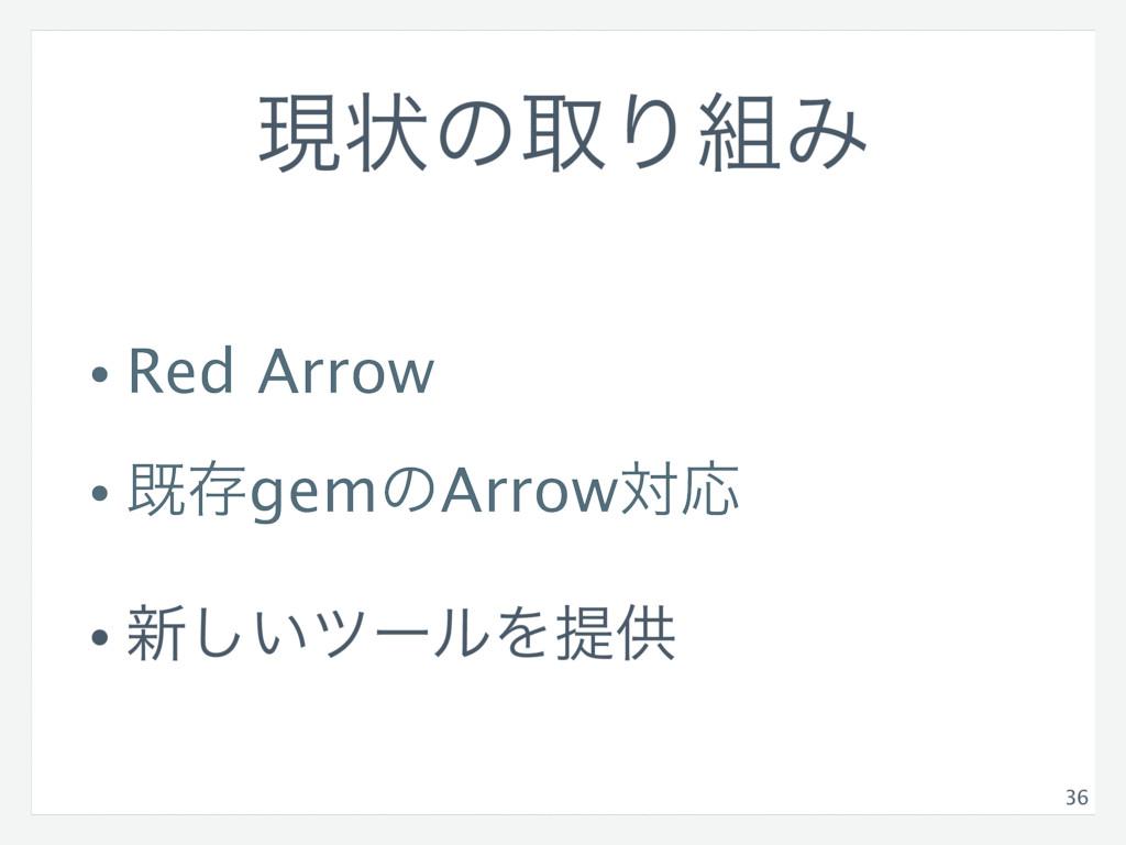 ݱঢ়ͷऔΓΈ • Red Arrow • طଘgemͷArrowରԠ • ৽͍͠πʔϧΛఏڙ...