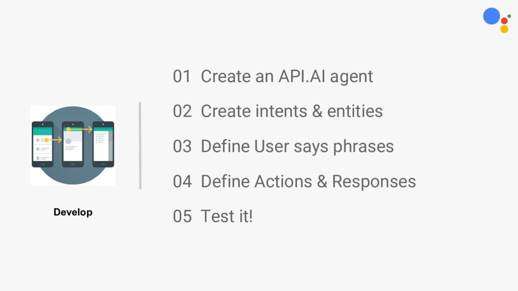 01 Create an API.AI agent 02 Create intents & e...
