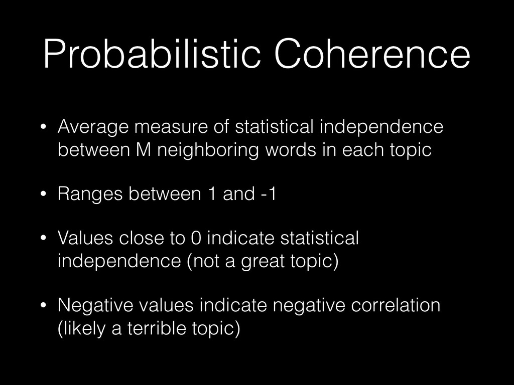Probabilistic Coherence • Average measure of st...