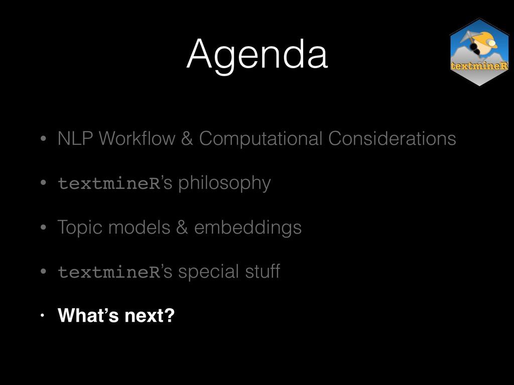 Agenda • NLP Workflow & Computational Considerat...