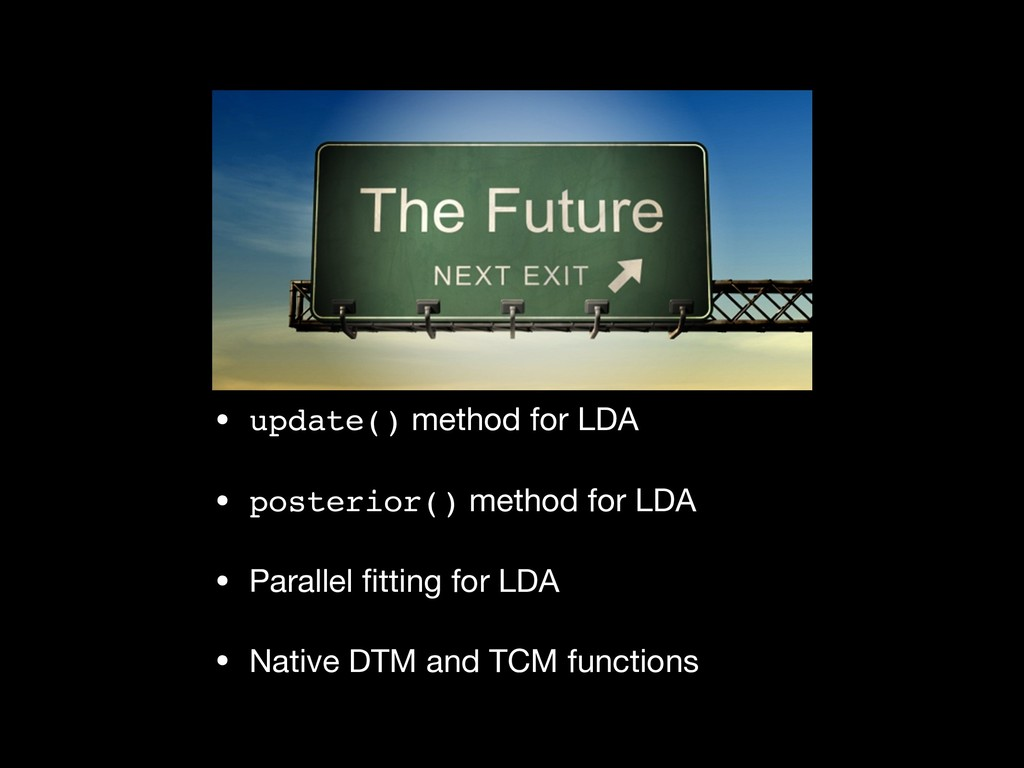 • update() method for LDA  • posterior() method...