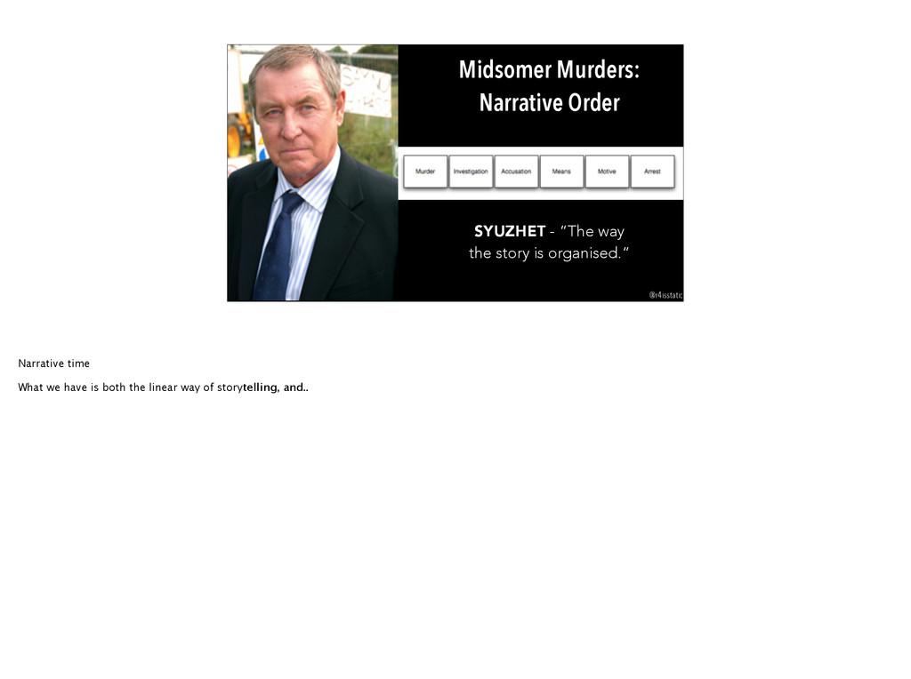 "Midsomer Murders: Narrative Order SYUZHET - ""Th..."