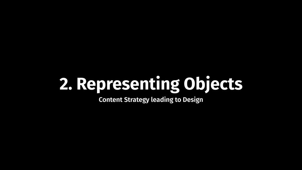2. Representing Objects Content Strategy leadin...