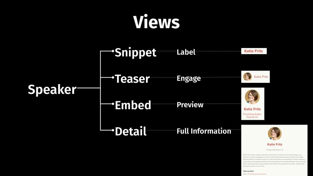 Speaker Snippet Teaser Embed Detail Label Engag...