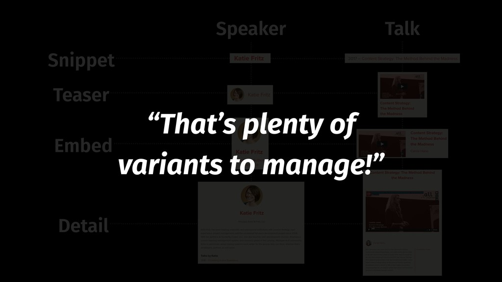 "Snippet Teaser Embed Detail Speaker Talk ""That'..."
