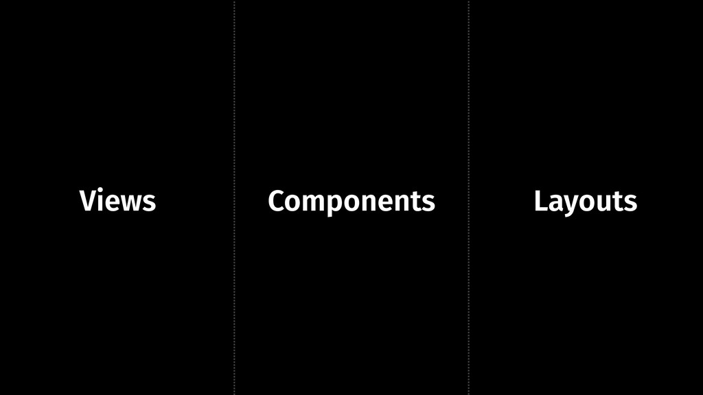 Components Views Layouts