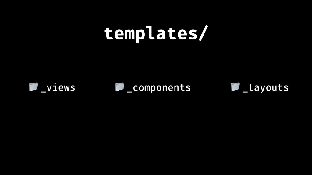 """templates/ _layouts """" _views """" _components """""""
