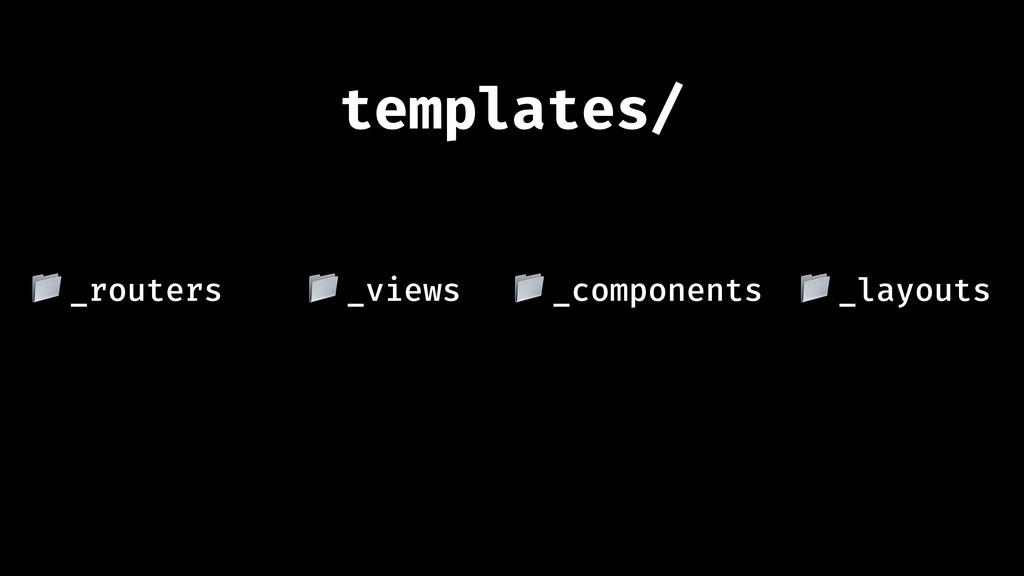 "_views "" templates/ _routers "" _components "" _l..."