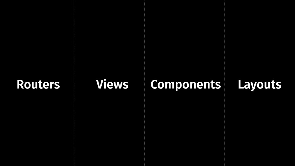 Routers Views Components Layouts