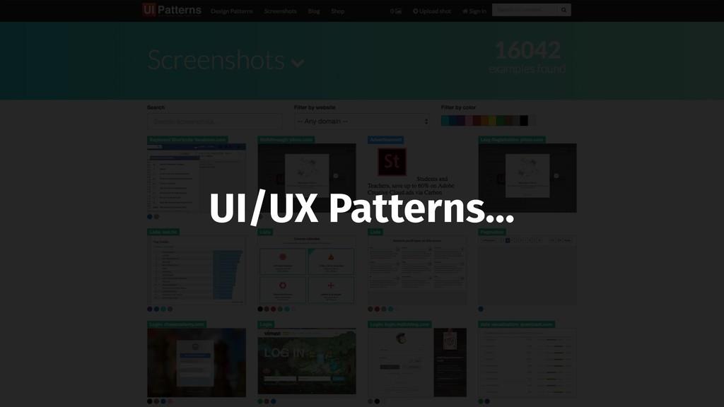 UI/UX Patterns…
