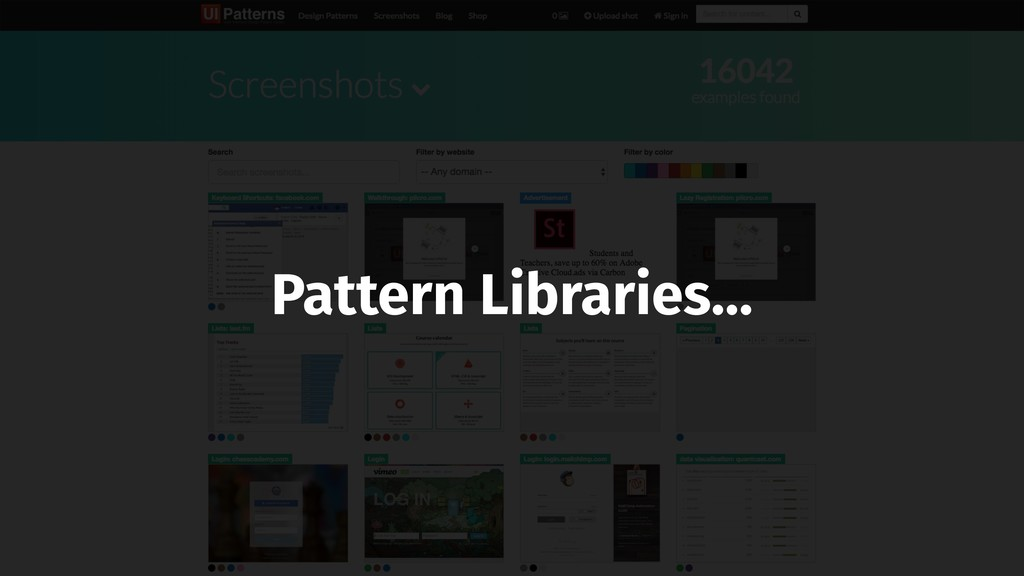 Pattern Libraries…