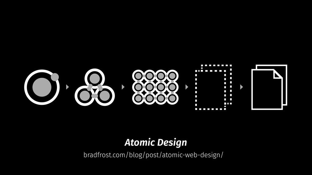 Atomic Design bradfrost.com/blog/post/atomic-we...