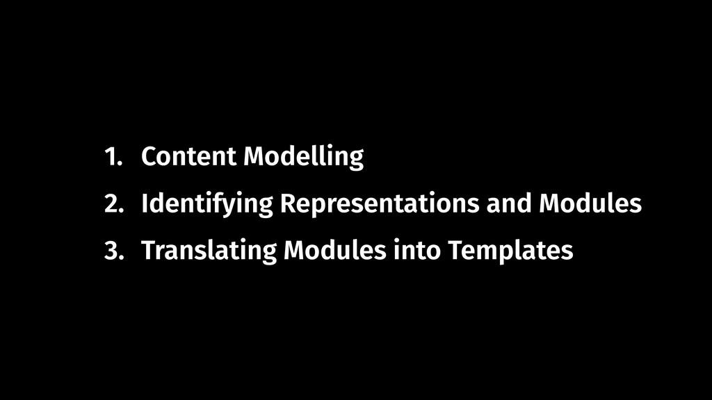 1. Content Modelling 2. Identifying Representat...