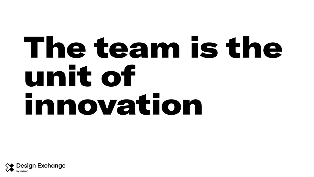 The team is the unit of innovation