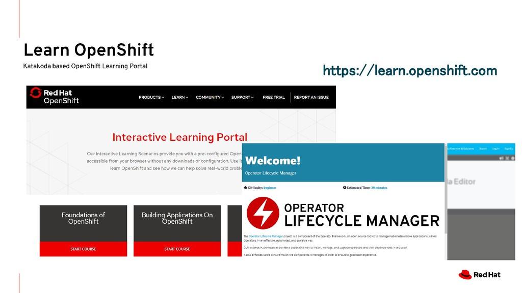 https://learn.openshift.com
