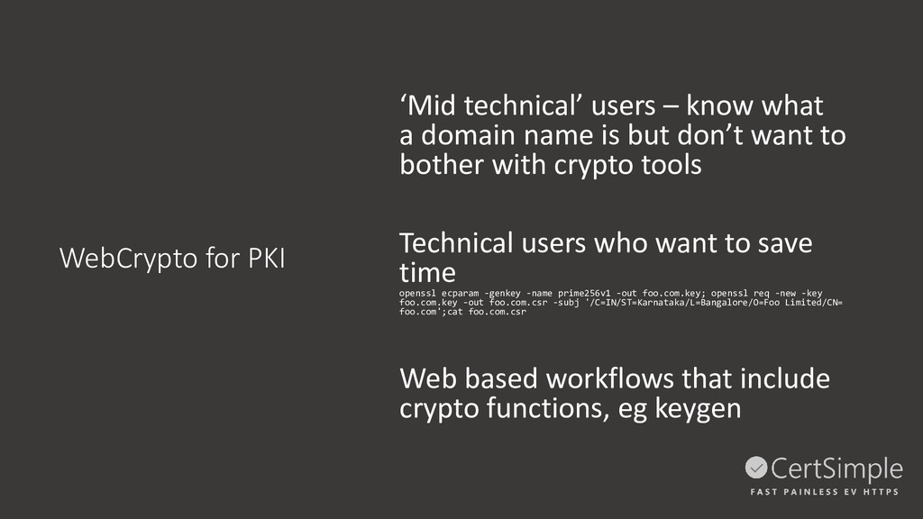 WebCrypto for PKI 'Mid technical' users – know ...