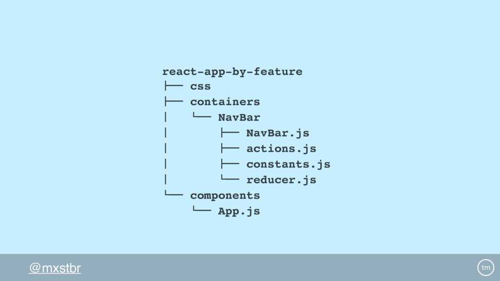 """@mxstbr react-app-by-feature !"""""""" css !"""""""" contai..."""