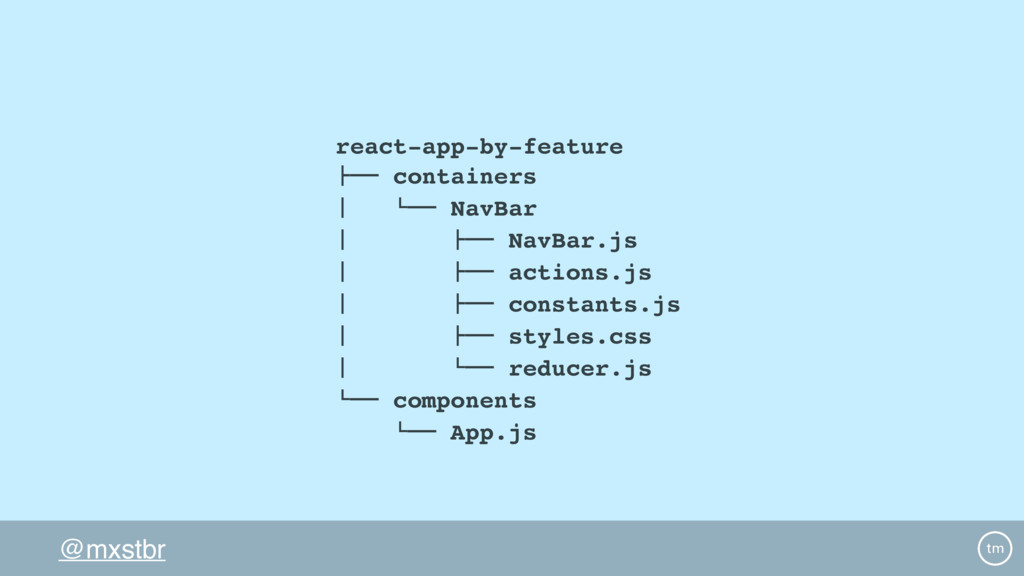 """@mxstbr react-app-by-feature !"""""""" containers # $..."""