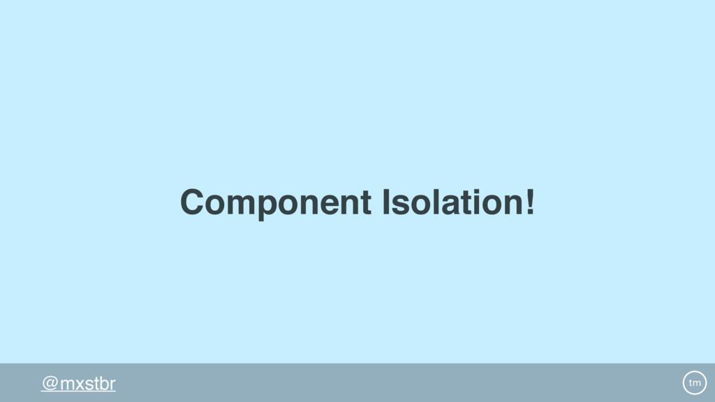 @mxstbr Component Isolation!