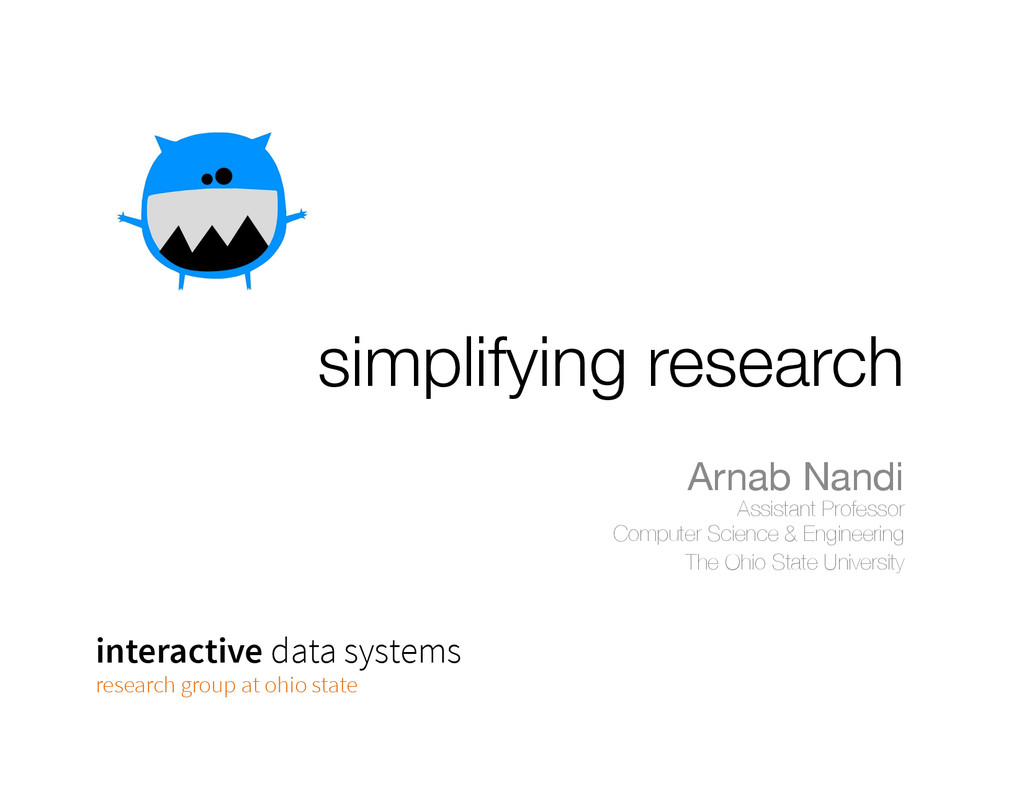 simplifying research