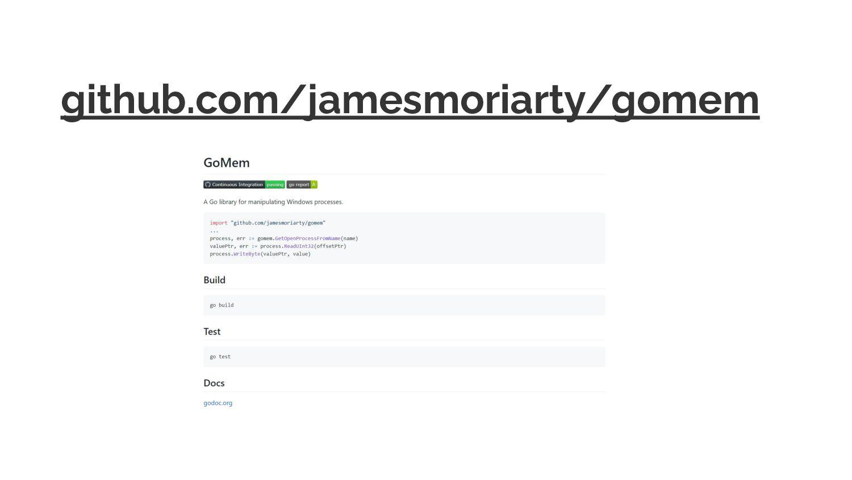 github.com/jamesmoriarty/gomem