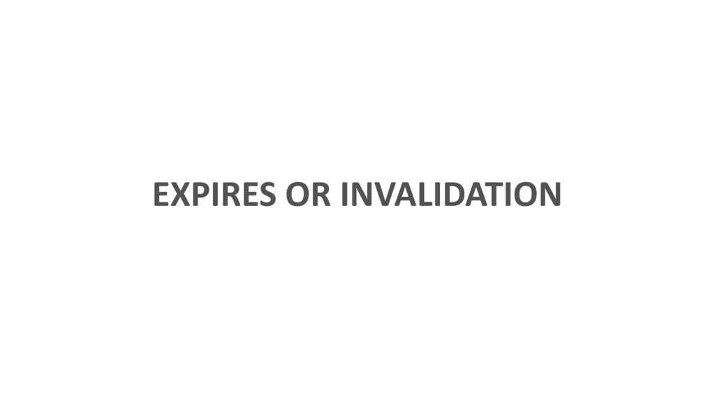 EXPIRES OR INVALIDATION