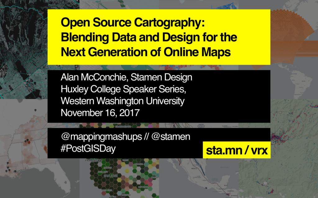 Open Source Cartography: Blending Data and Desi...