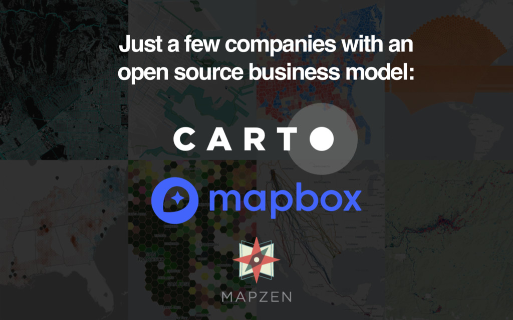 Just a few companies with an open source busine...