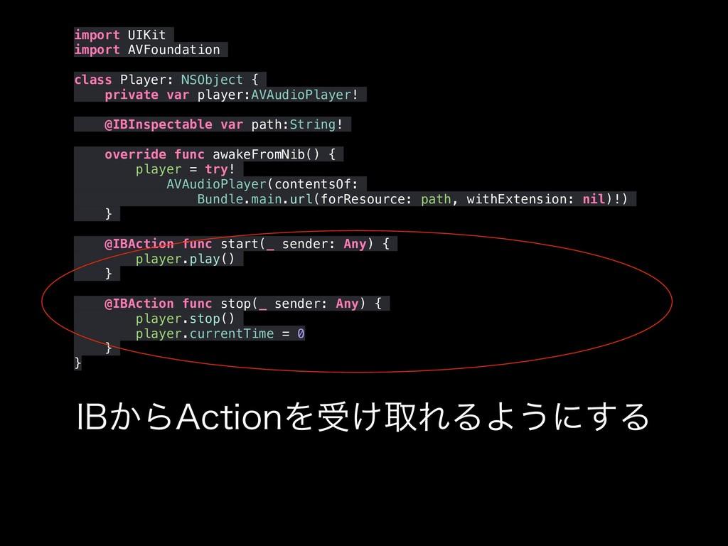 "*#͔Β""DUJPOΛड͚औΕΔΑ͏ʹ͢Δ import UIKit import AVFou..."