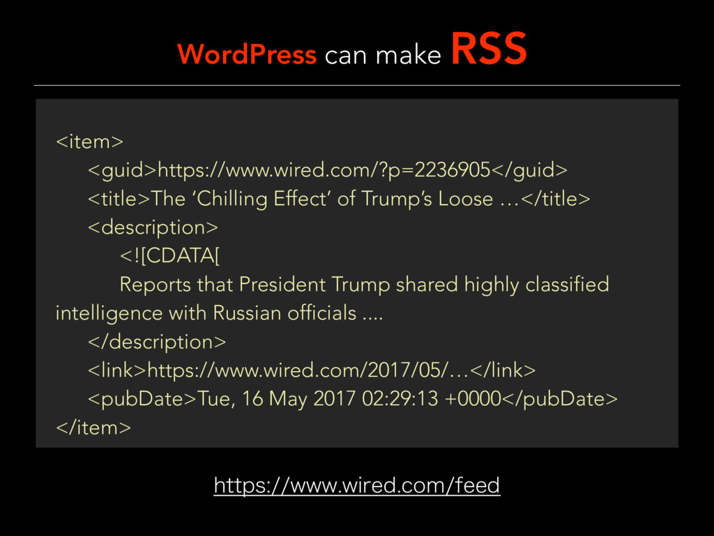 WordPress can make RSS IUUQTXXXXJSFEDPNGF...
