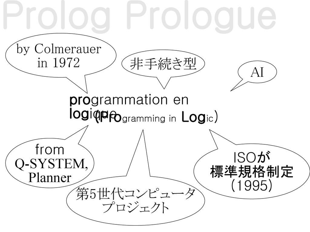 (Programming in Logic) by Colmerauer in 1972 pr...
