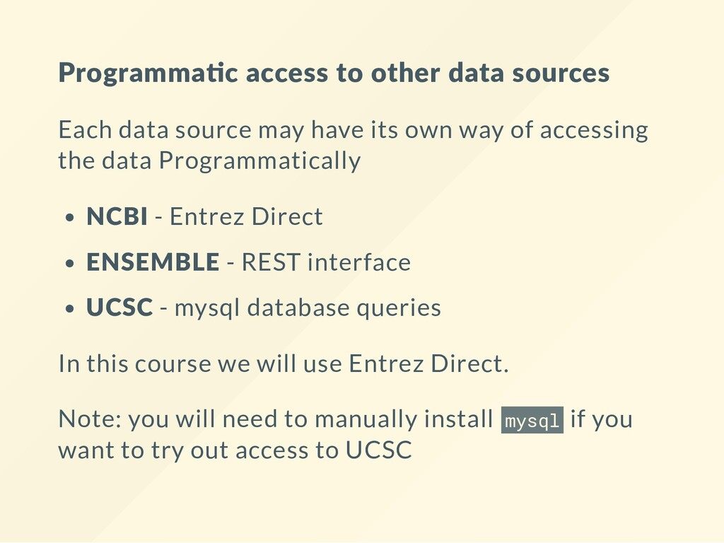 Programma c access to other data sources Each d...