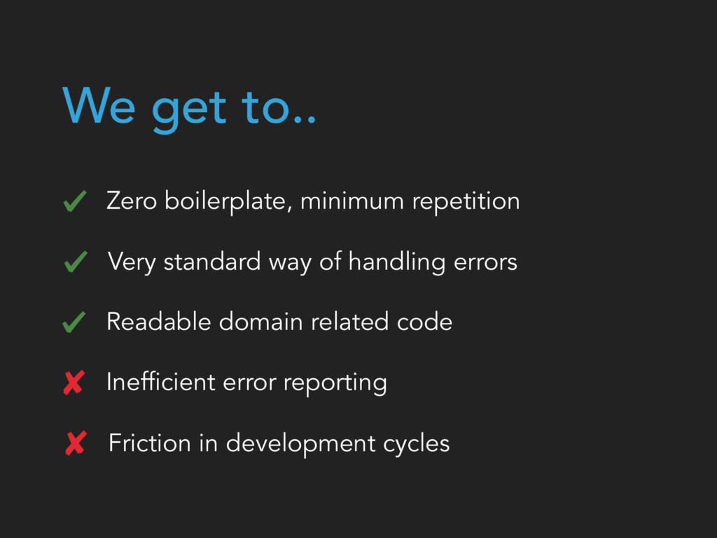 We get to.. Inefficient error reporting Zero bo...