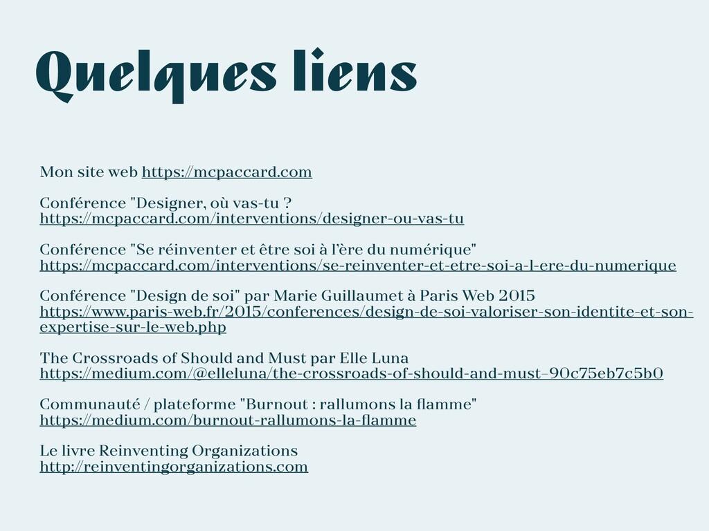 Quelques liens Mon site web https://mcpaccard.c...