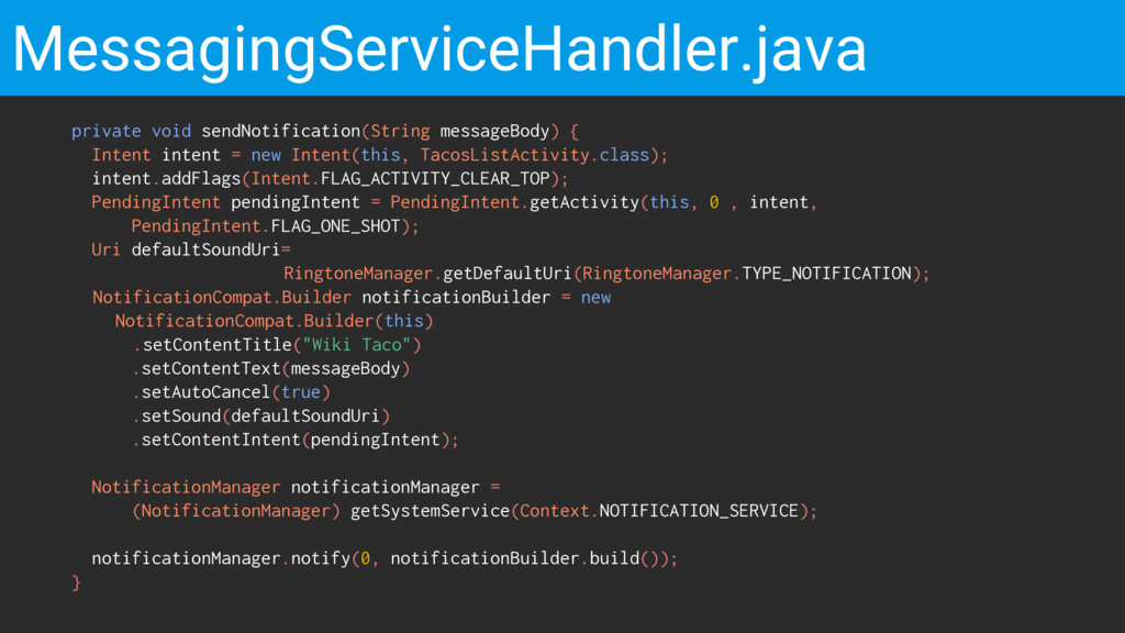 MessagingServiceHandler.java private void sendN...