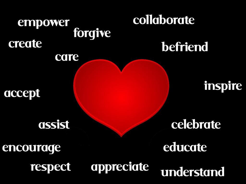 empower educate befriend assist collaborate cel...