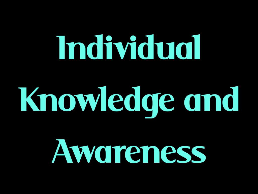 Individual Knowledge and Awareness