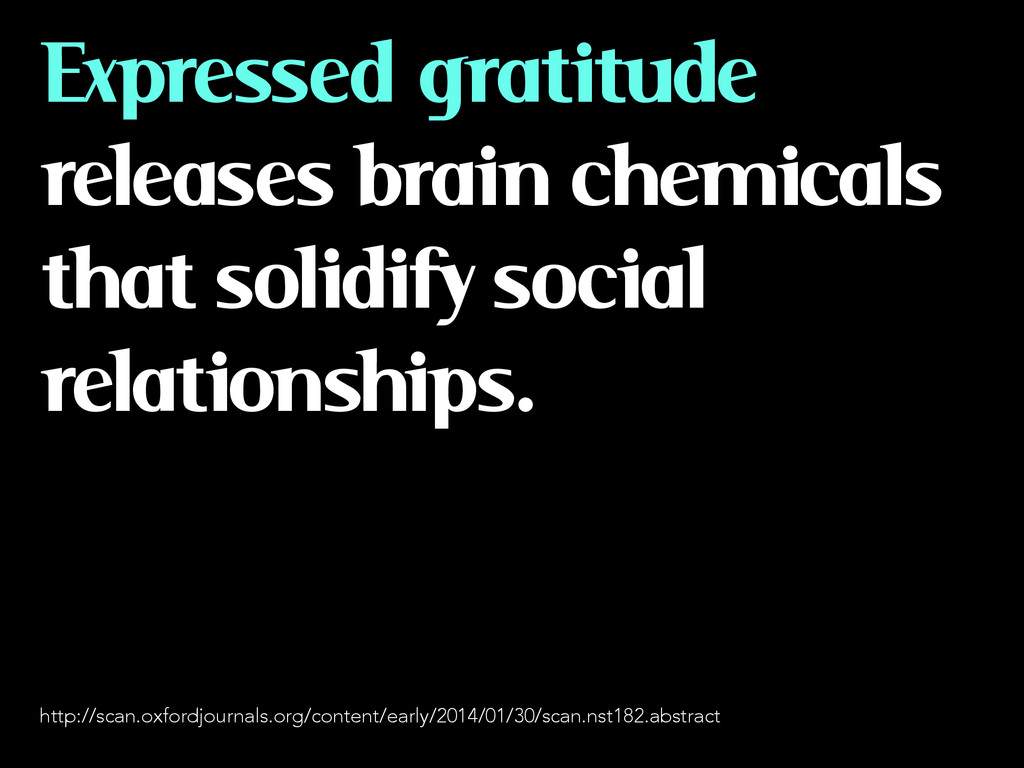 Expressed gratitude releases brain chemicals th...