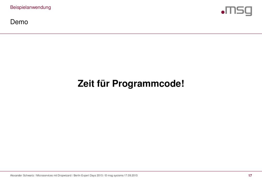 Beispielanwendung Demo Alexander Schwartz / Mic...