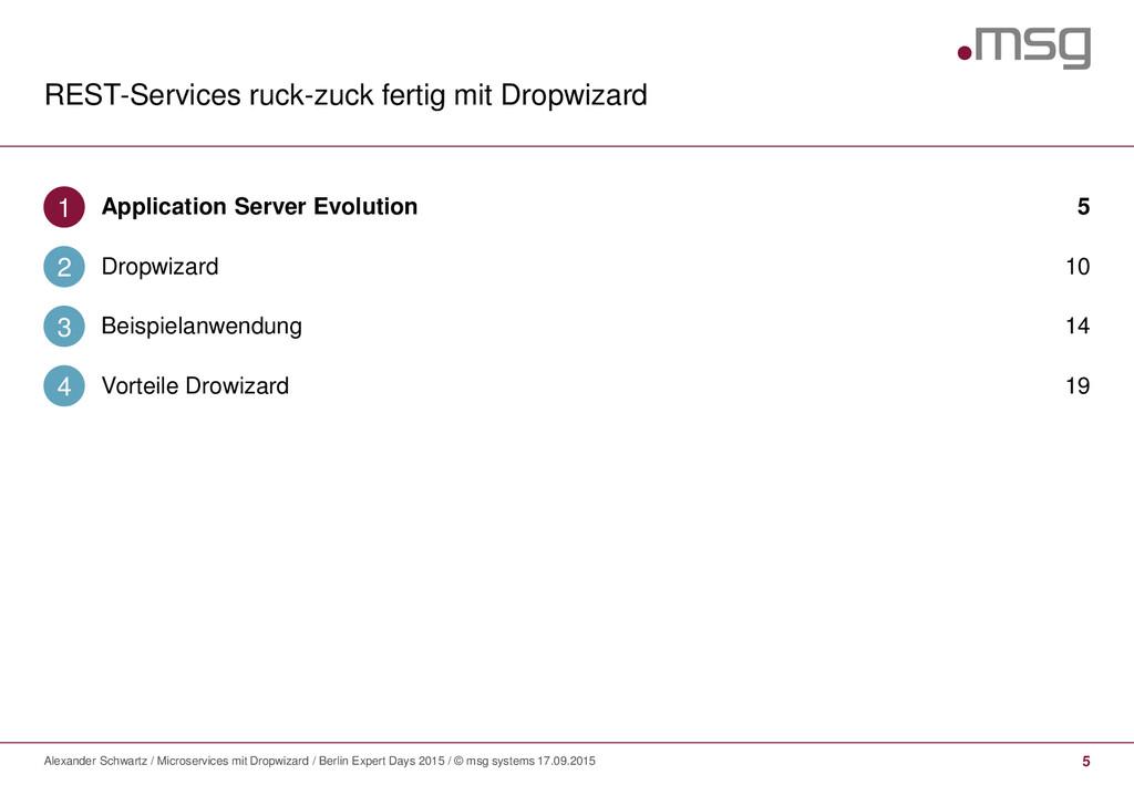 REST-Services ruck-zuck fertig mit Dropwizard 5...