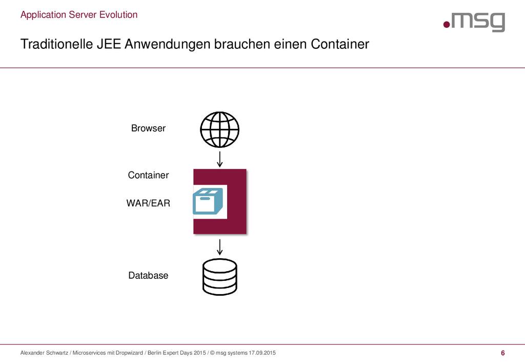 Application Server Evolution Traditionelle JEE ...