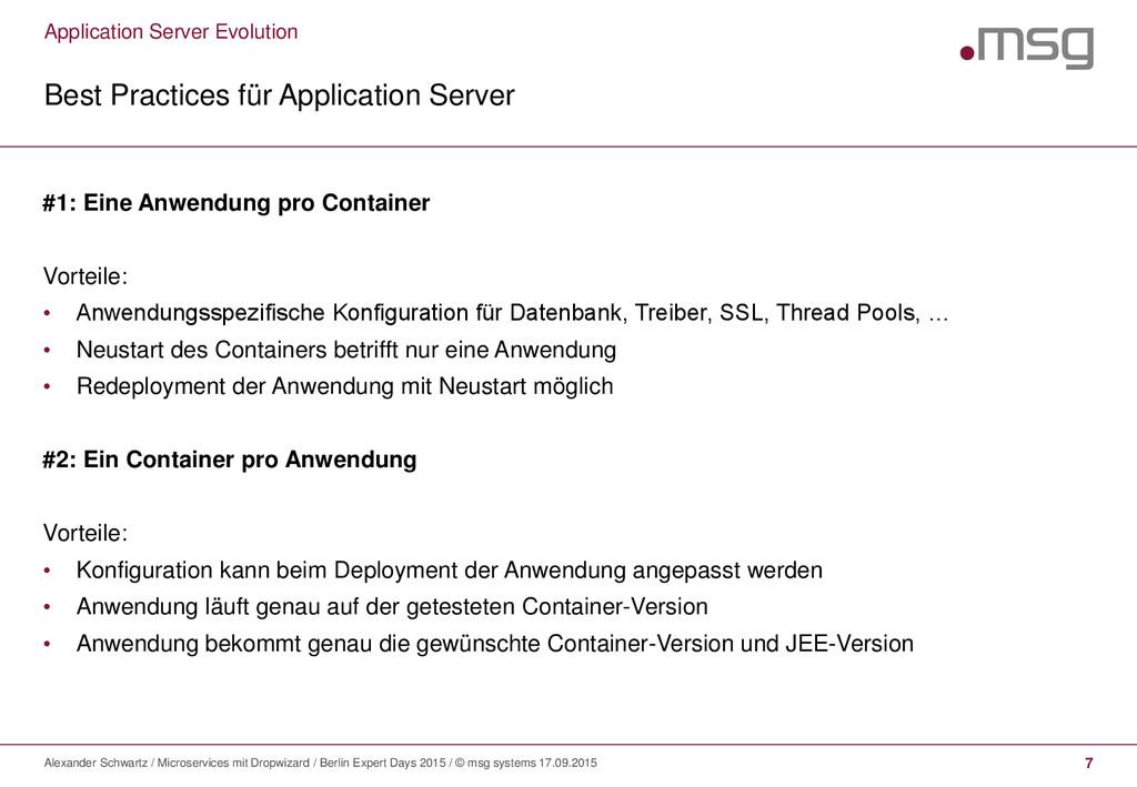 Application Server Evolution Best Practices für...