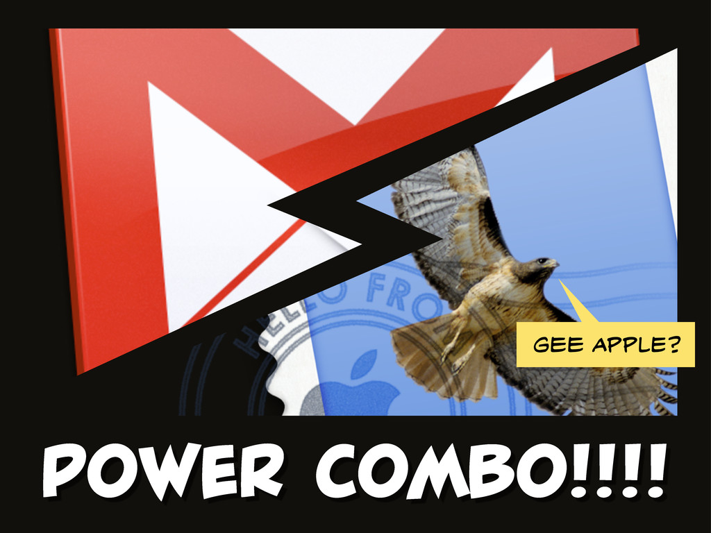 POWER COMBO!!!! Gee APPLE?