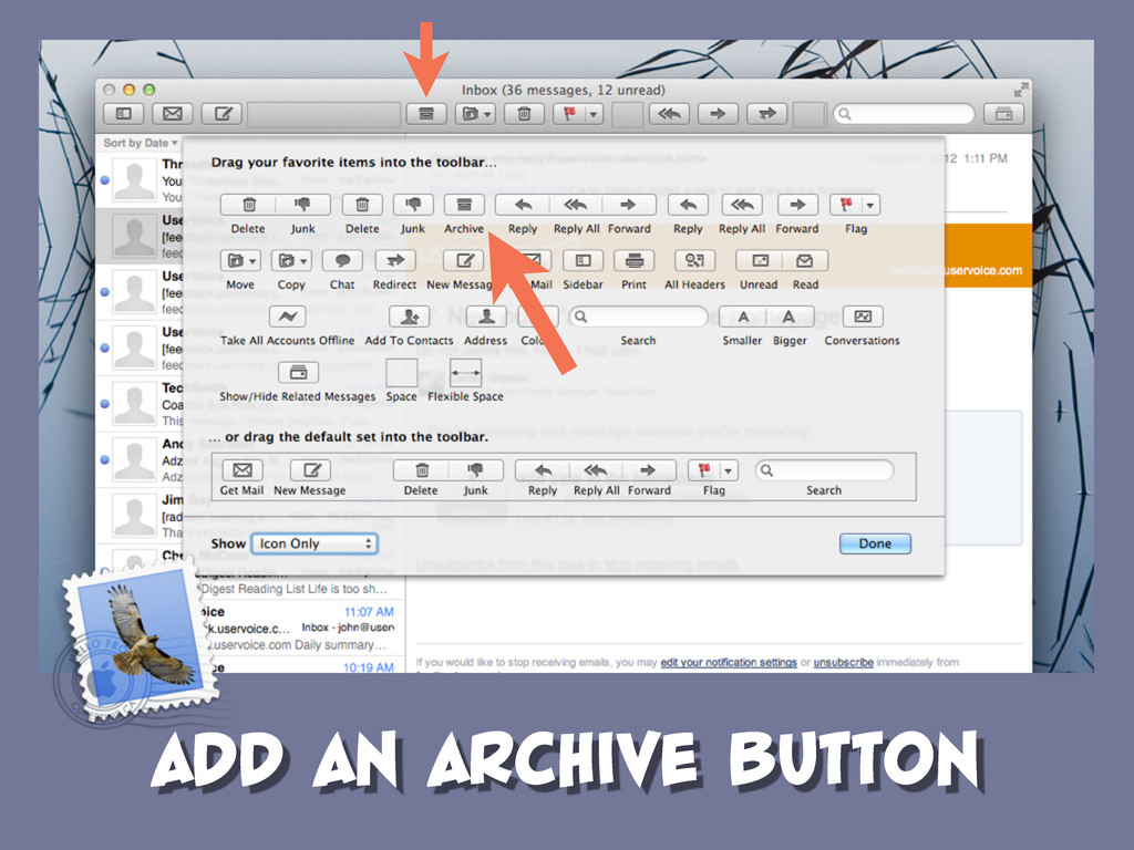 ADD AN ARCHIVE BUTTON