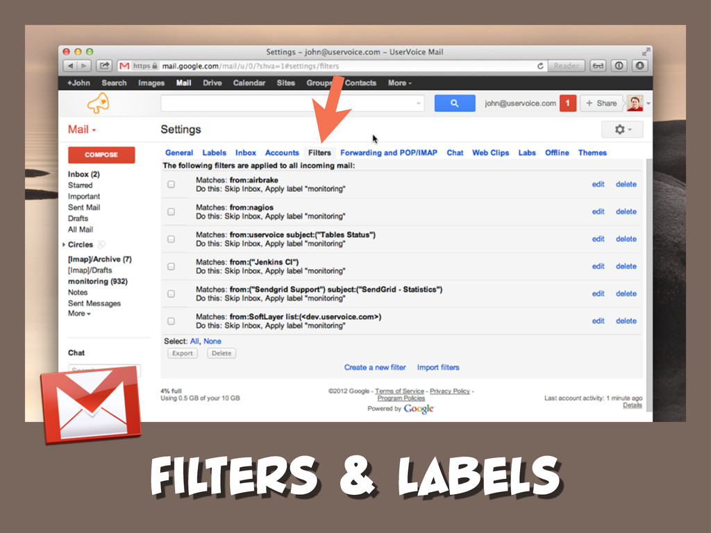 FILTERS & LABELS