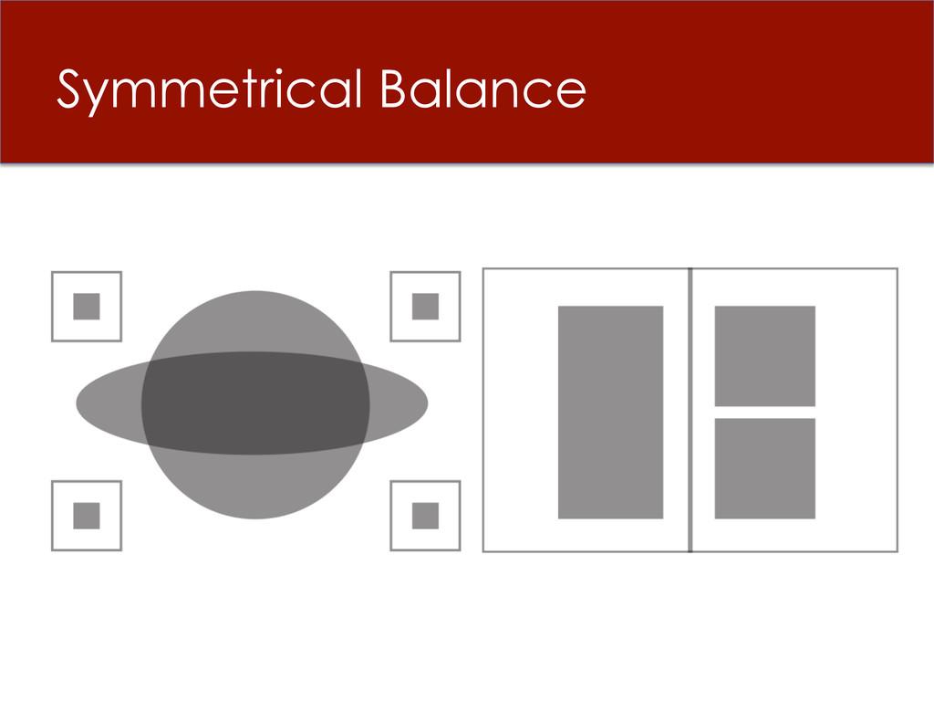 Symmetrical Balance