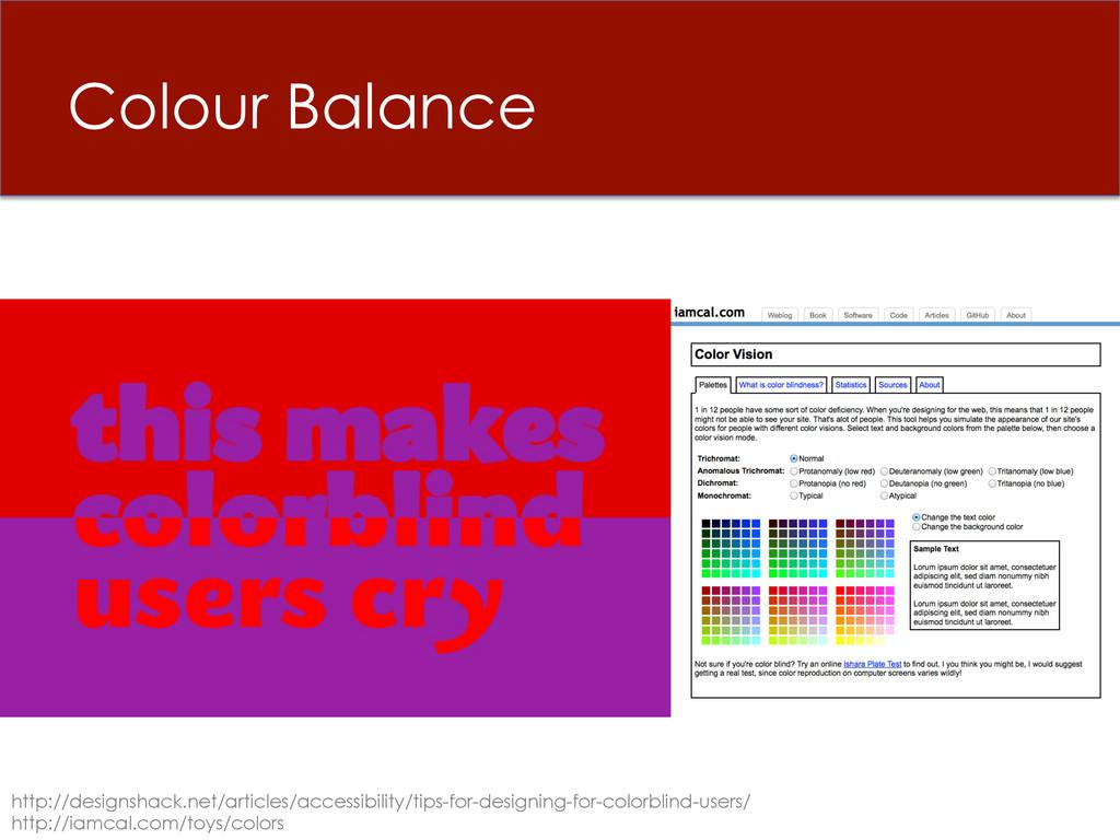 Colour Balance http://designshack.net/articles/...